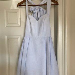 Lauren James Livingston Blue Seersucker Dress